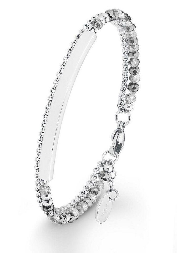 s.Oliver RED LABEL Armband »2012532« mit Glassteinen in silberfarben-grau
