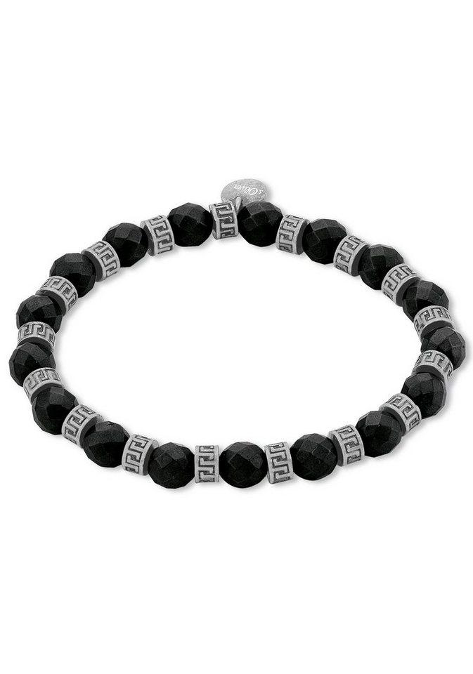 s.Oliver RED LABEL Armband »2012602« mit Hämatit in silberfarben-schwarz