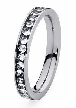 qudo Fingerring »Nueva Deluxe, 630270, 630272, 630273, 630275« mit Swarovski® Kristallen in silberfarben