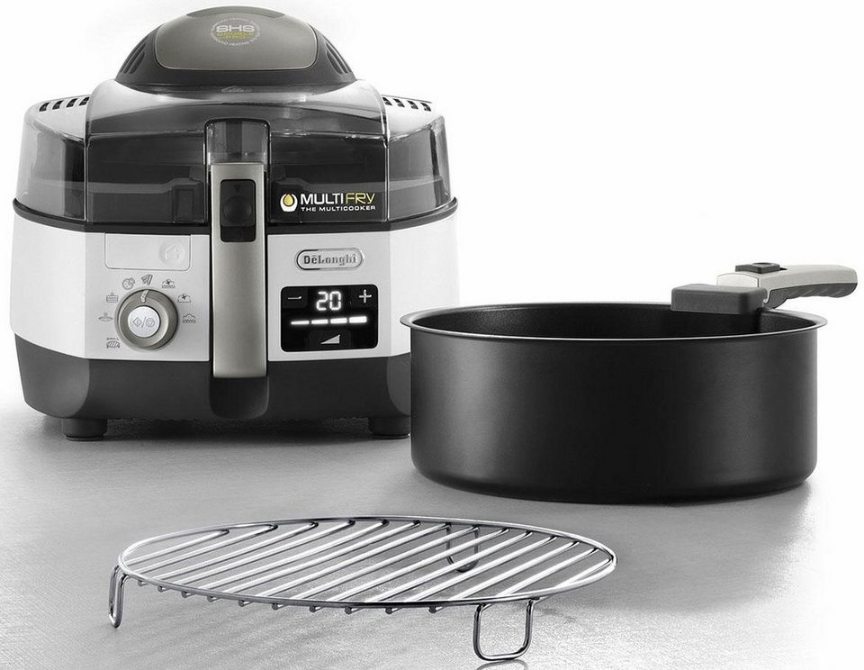 De'Longhi Heißluftfritteuse & Multicooker MultiFry EXTRA CHEF PLUS FH1396/1, weiß in weiß
