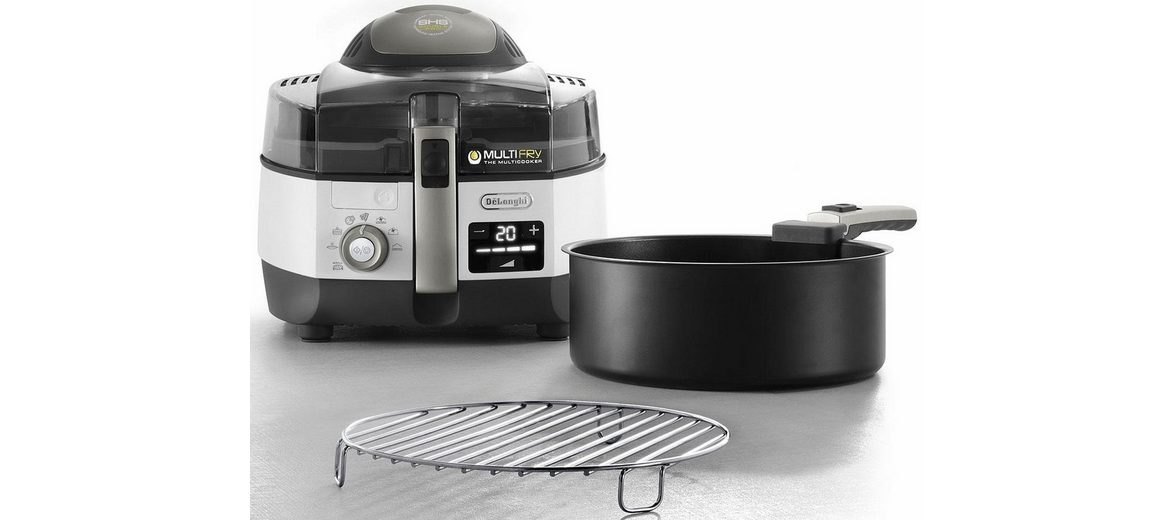 De'Longhi Heißluftfritteuse & Multicooker MultiFry EXTRA CHEF PLUS FH1396/1, weiß