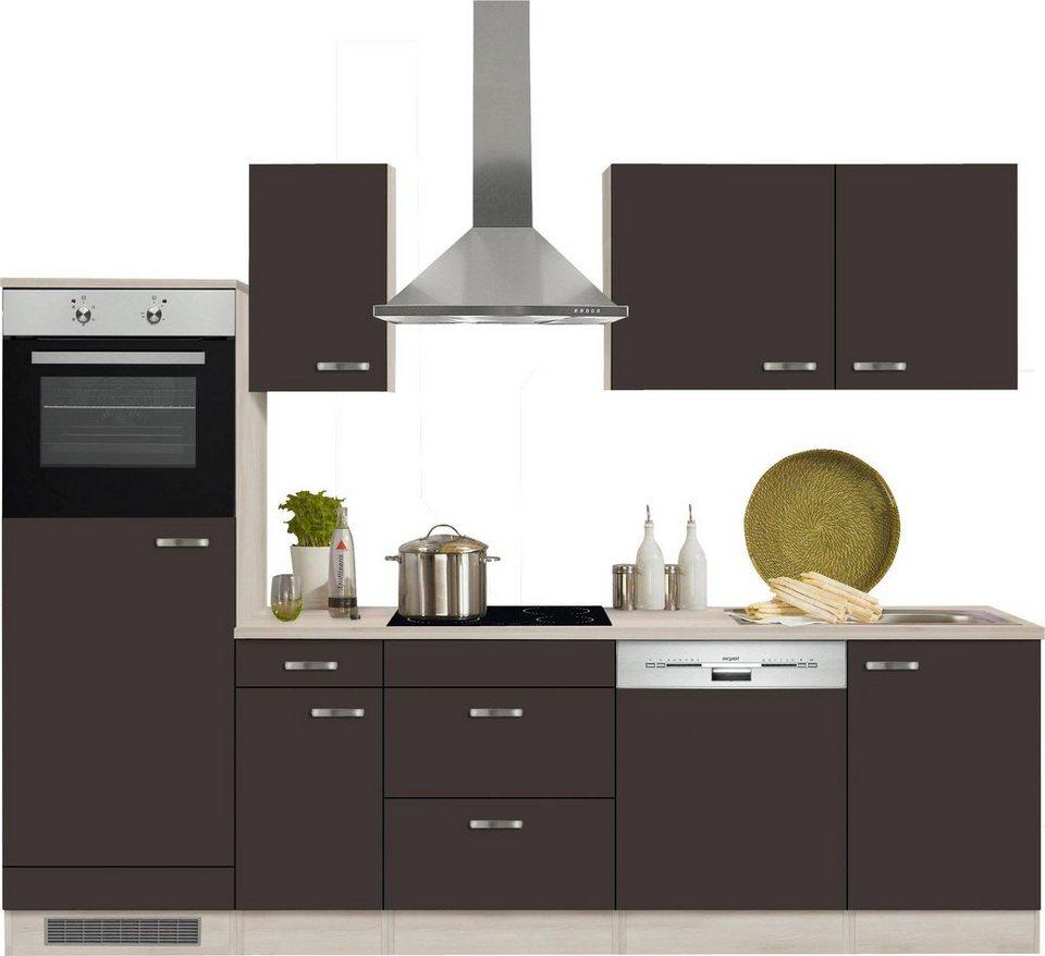 Optifit Küchenzeile ohne E-Geräte »Faro«, Breite 270 cm in anthrazit