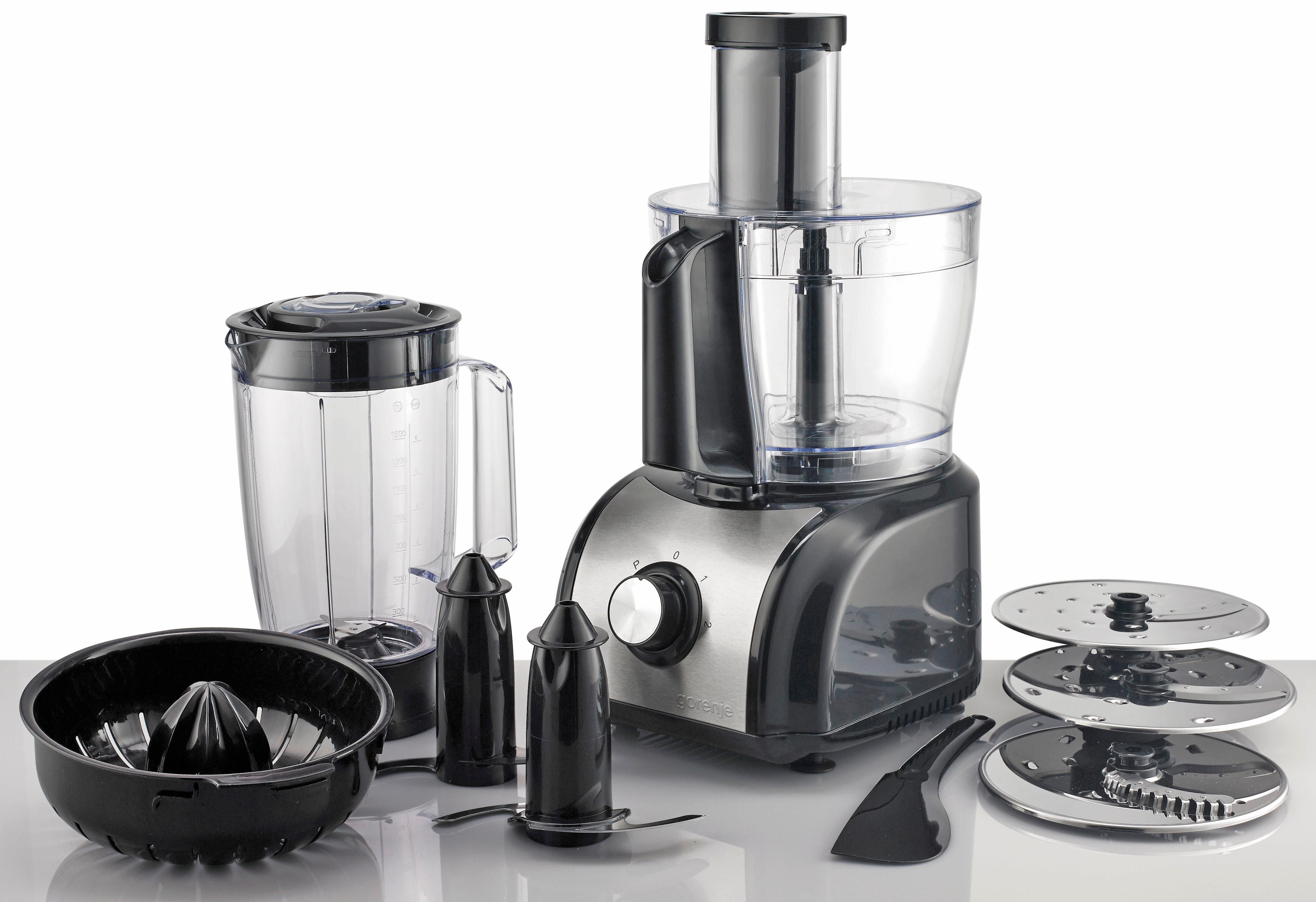Gorenje Küchenmaschine SB800B, 1,5 Liter, 800 Watt, edelstahl-schwarz