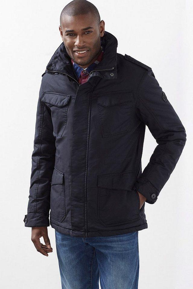 EDC Wattierte Jacke aus Baumwolle in BLACK
