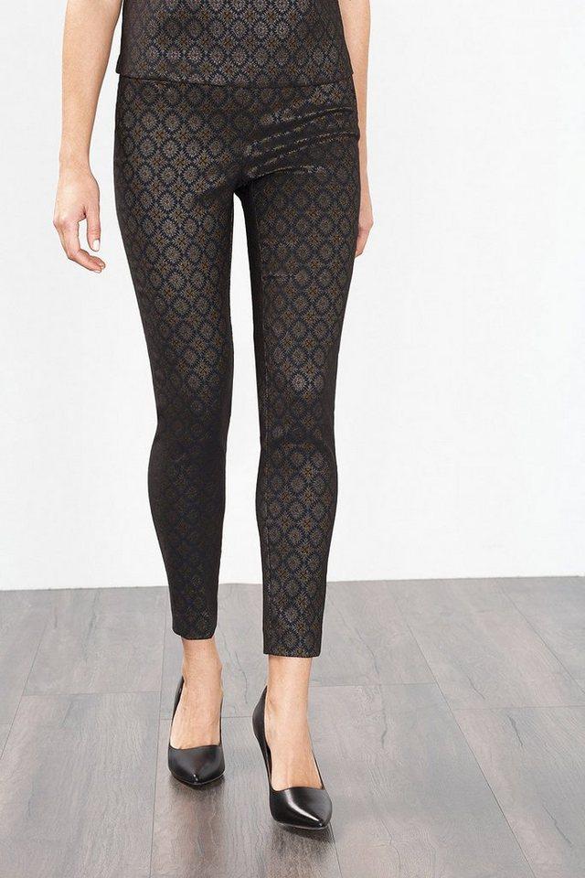 ESPRIT COLLECTION Stretch Hose aus Glanz-Jacquard in BLACK