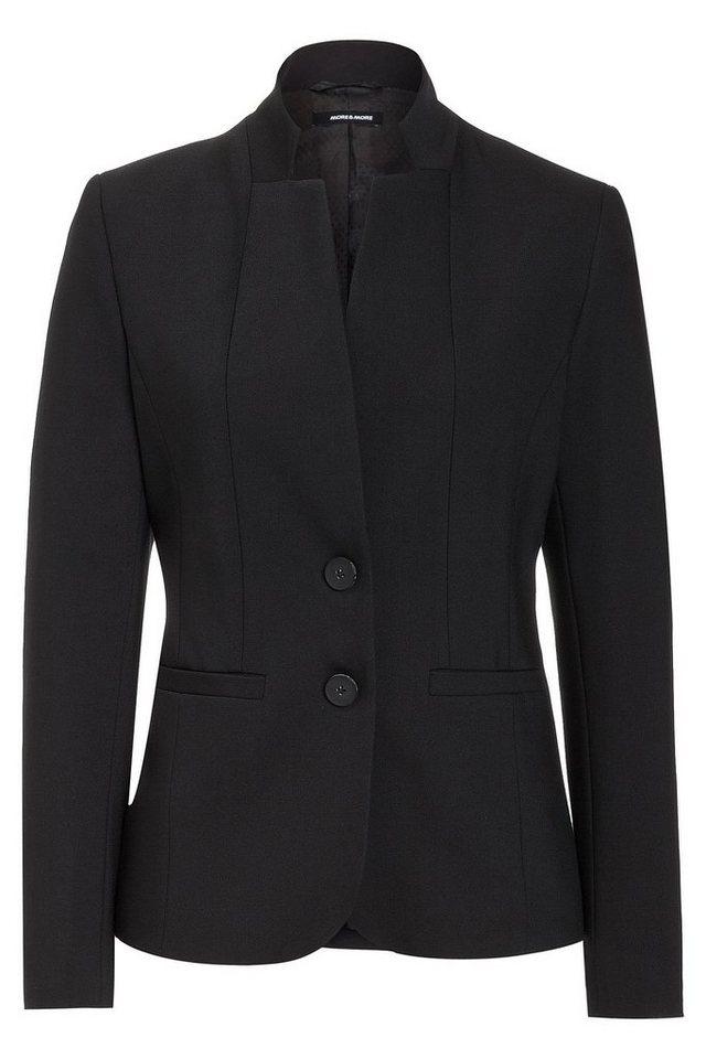 MORE&MORE Blazer, schwarz in schwarz