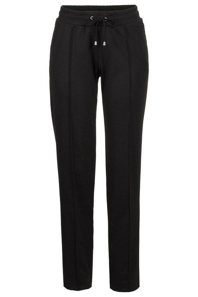 MORE&MORE Jogg-Pants, schwarz in schwarz