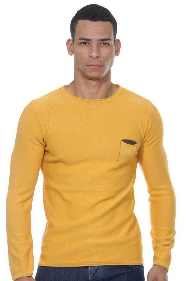 CAZADOR Pullover slim fit in orange