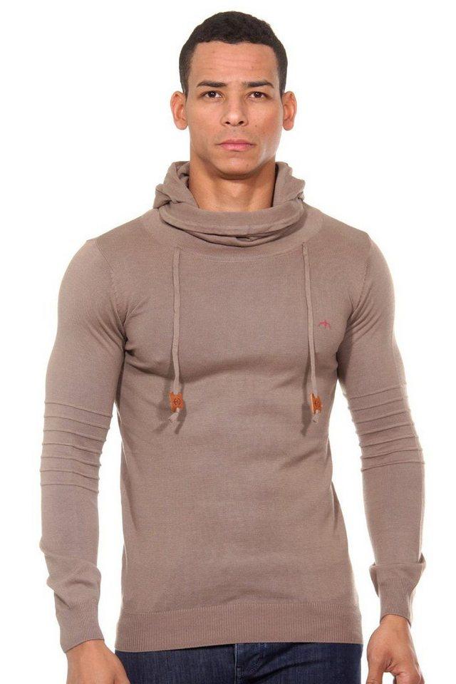CAZADOR Pullover regular fit in braun