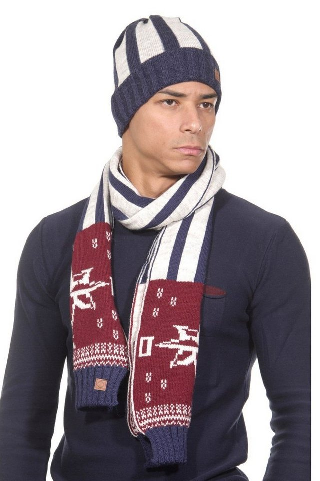 CAZADOR Set Schal und Mütze in ecru