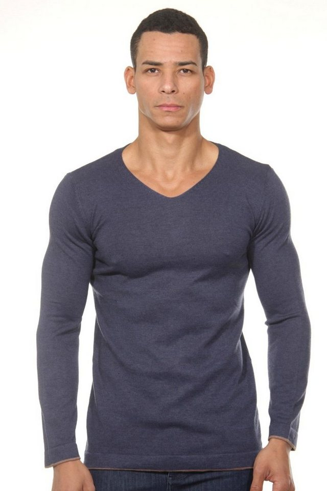 CAZADOR Pullover V-Ausschnitt regular fit in indigo