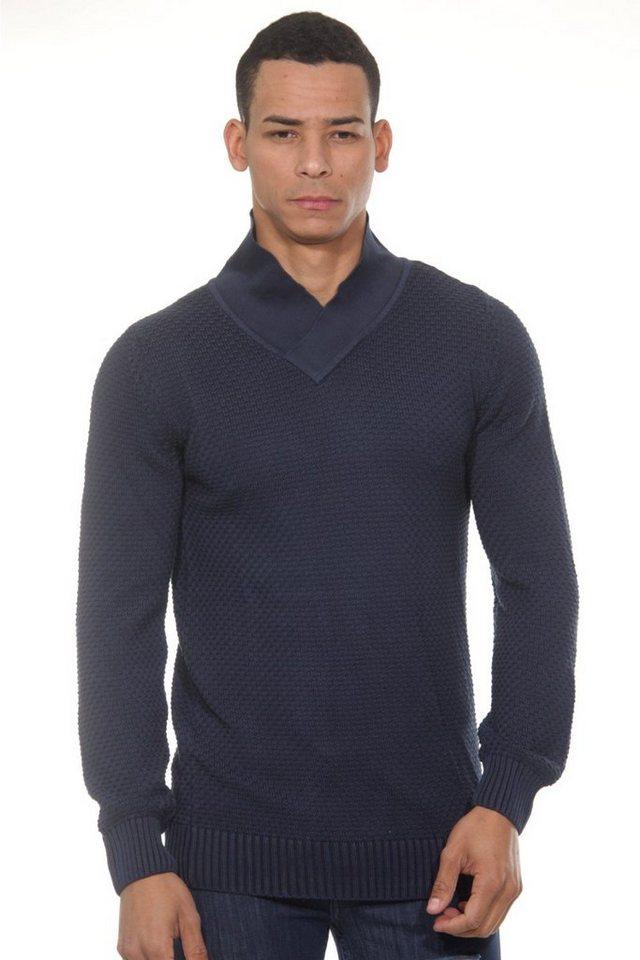 CAZADOR Pullover V-Ausschnitt regular fit in navy