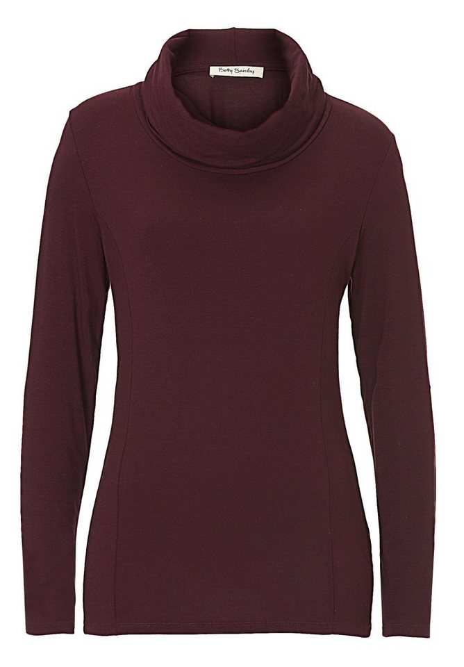 Betty Barclay Shirt in Dark Aubergine - Rot