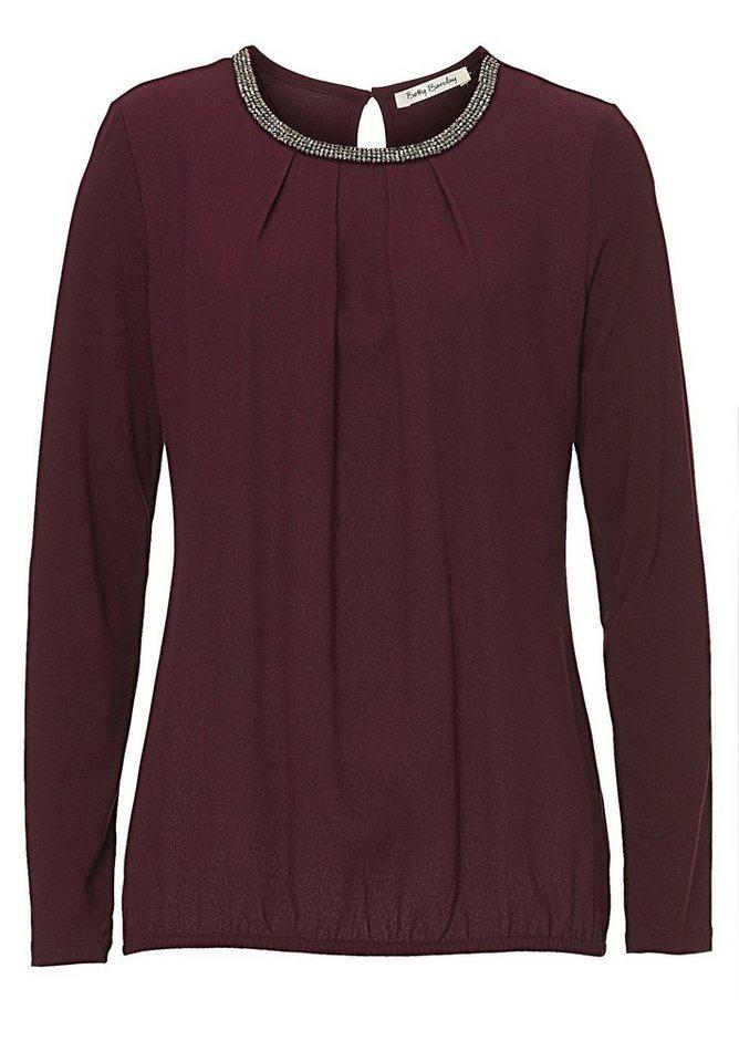 Betty Barclay Shirt in Dark Aubergine - Rot