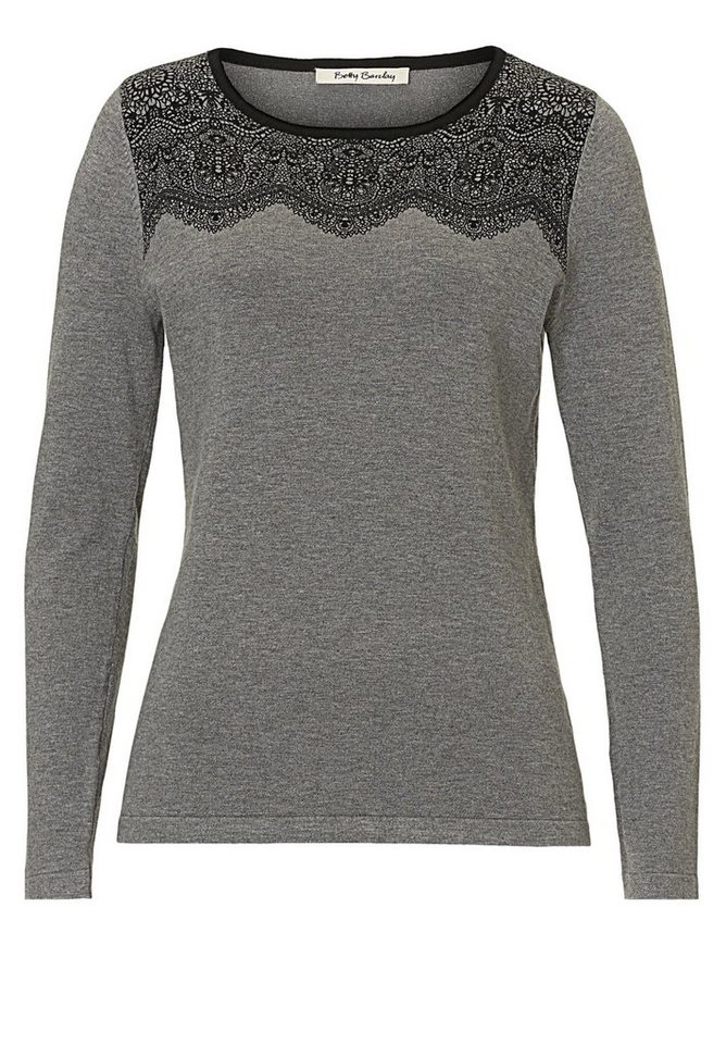 Betty Barclay Strickpullover in Grey Melange - Bunt