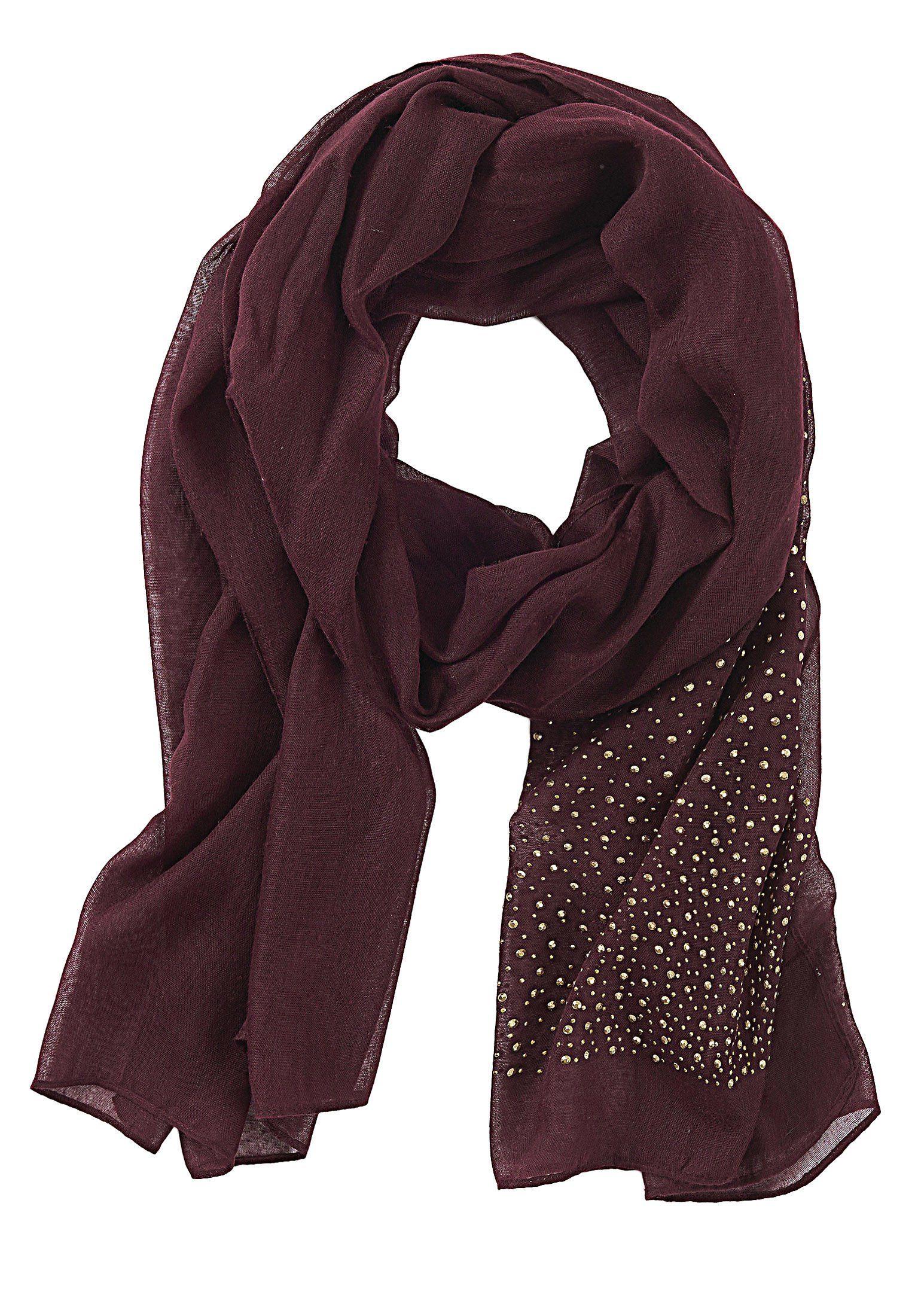 Betty Barclay Roter Schal mit Nieten