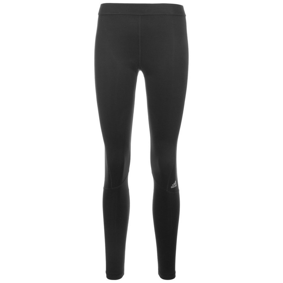 adidas Performance TechFit Long Trainingstight Damen in schwarz / silber