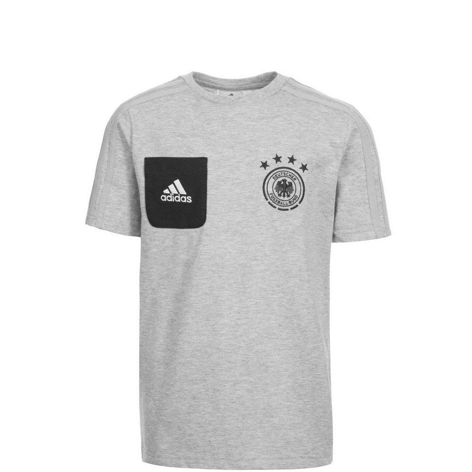 adidas Performance DFB Staff T-Shirt Kinder in grau / schwarz