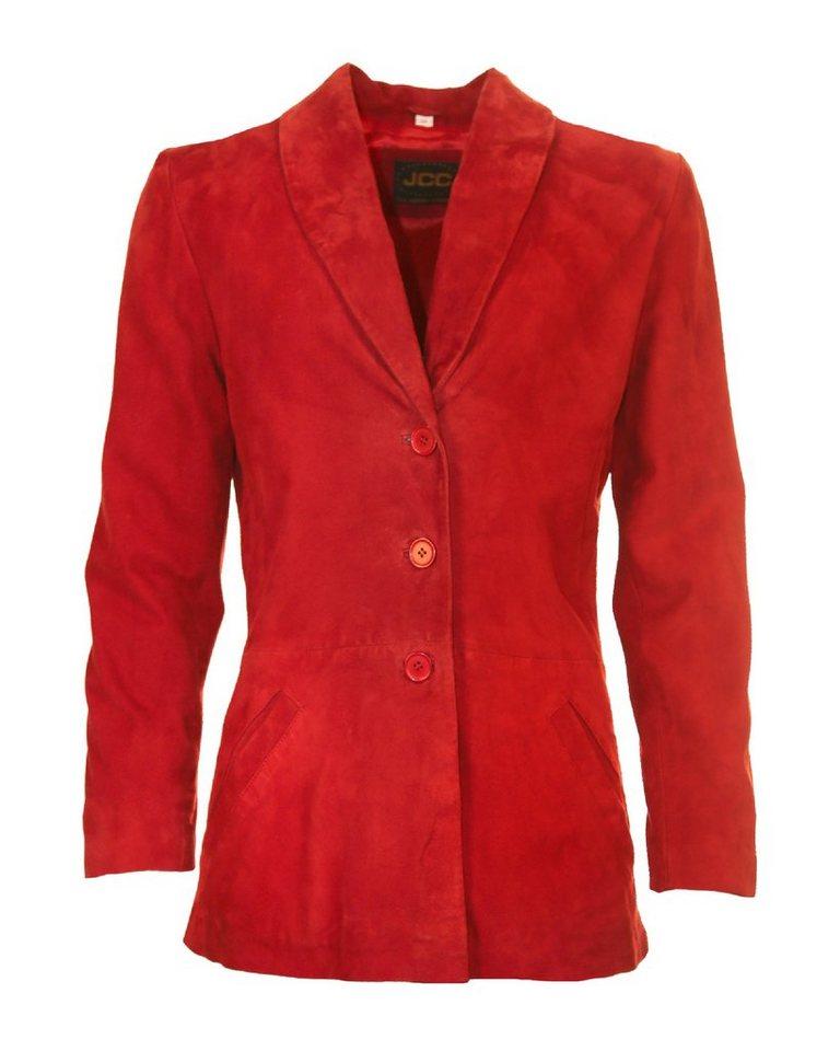 JCC Lederblazer, Damen Bredi in rot