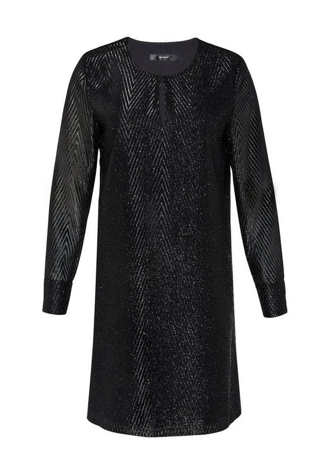 HALLHUBER Minikleid aus Glitzergarn in schwarz