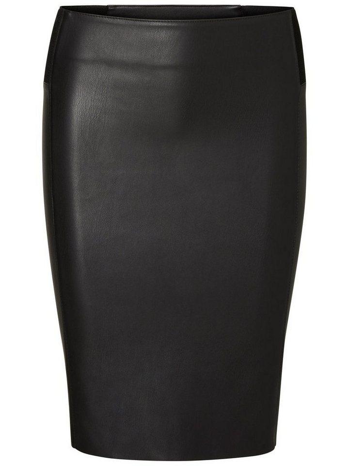 Vero Moda HW Bleistiftrock in Black