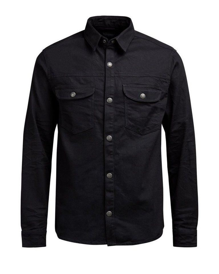 Jack & Jones Klassische Jeanshemd in Black Denim