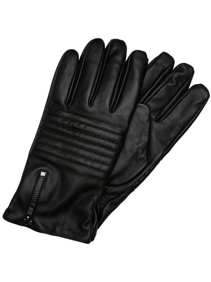Selected Leder- Handschuhe in Black