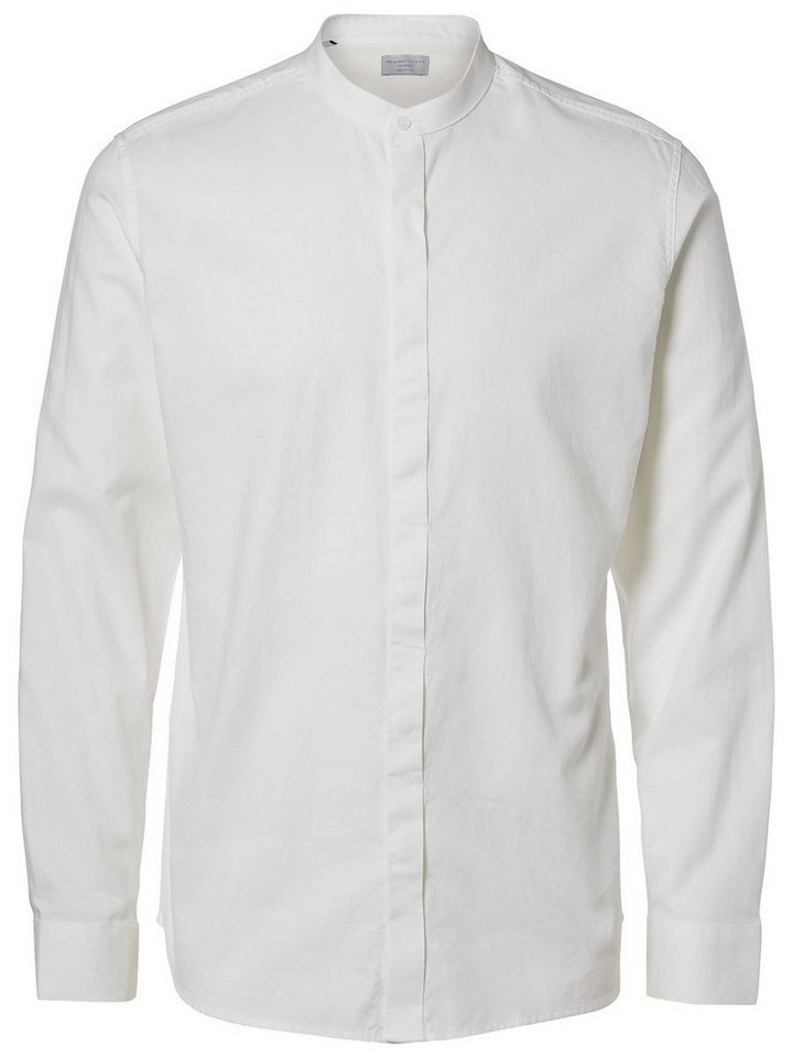 Selected Regular fit- Langarmhemd in Bright White
