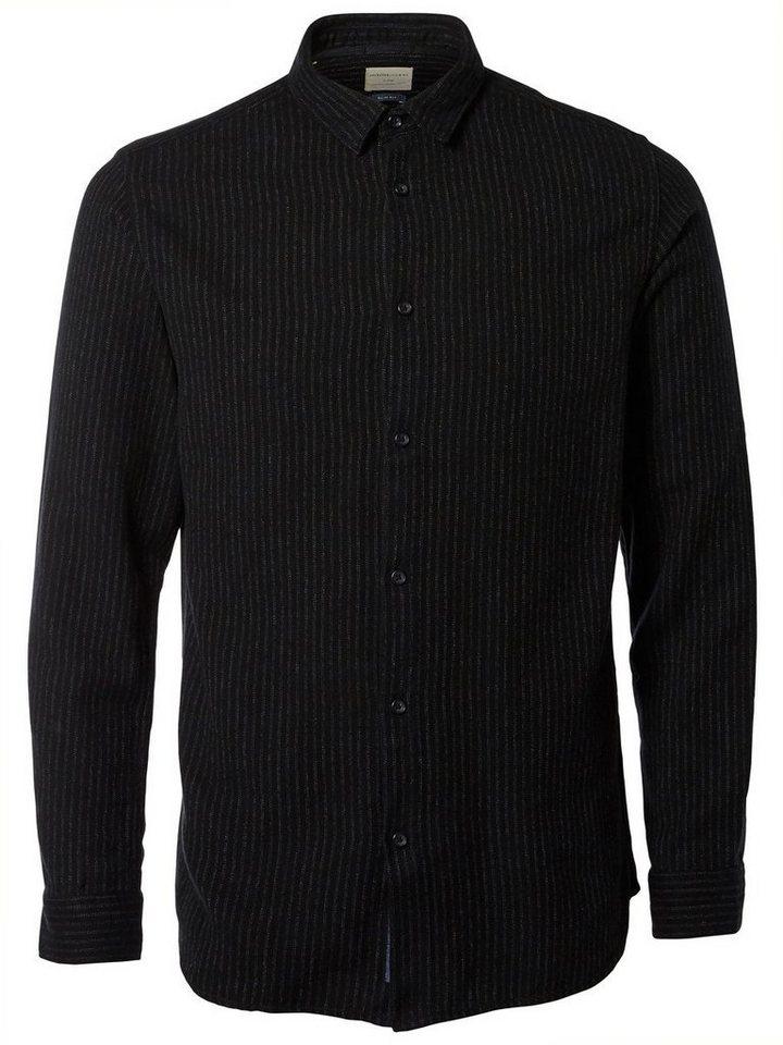 Selected Slim fit- Langarmhemd in Black