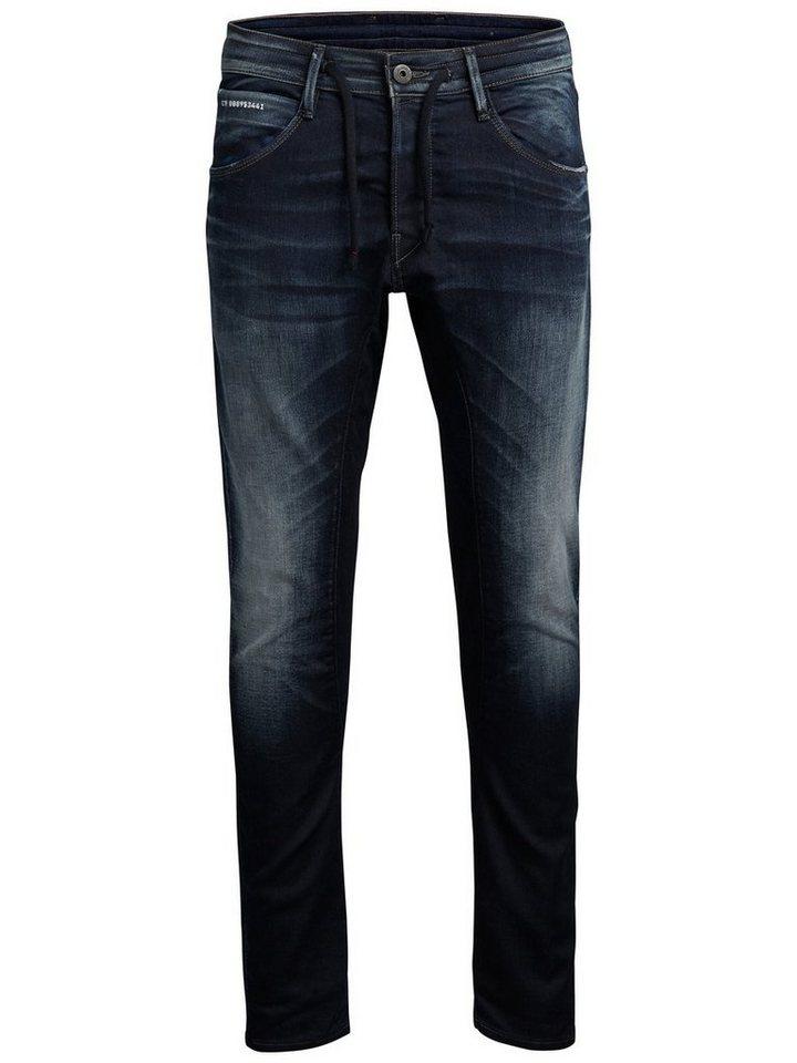 Jack & Jones Simon Clay Bl 666 Slim Fit Jeans in Blue Denim