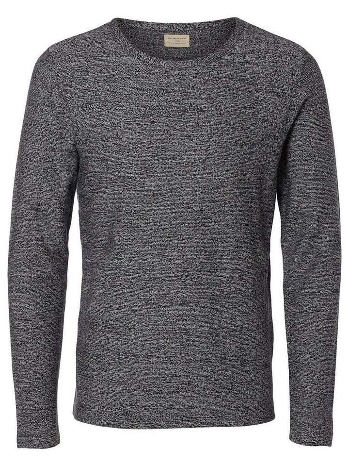 Selected Crew-Neck- Strickpullover in Black