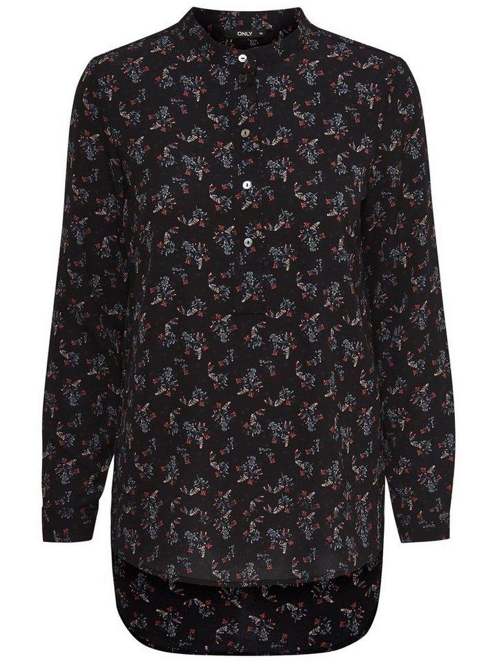 Only Bedrucktes Langarmhemd in Black 1