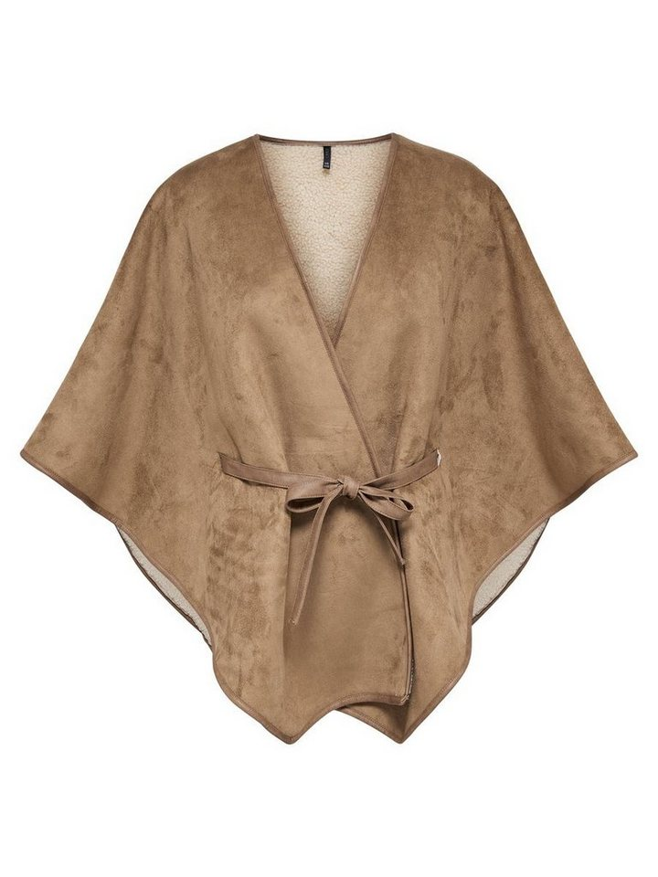 Only Detaillierter Poncho in Camel