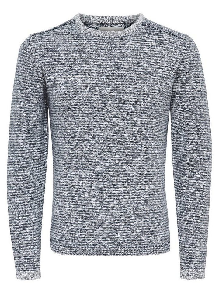 ONLY & SONS Detaillierter Strickpullover in Orion Blue