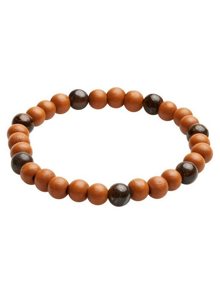 Jack & Jones Perlen- Armband in Brown Stone