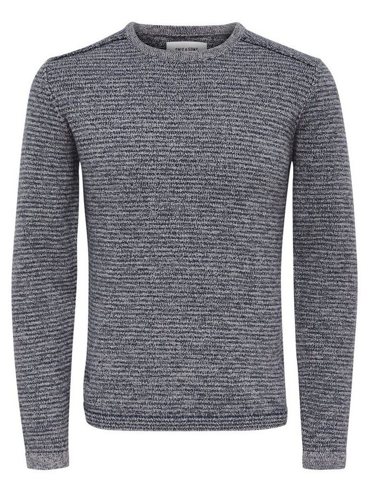 ONLY & SONS Detaillierter Strickpullover in Dress Blues