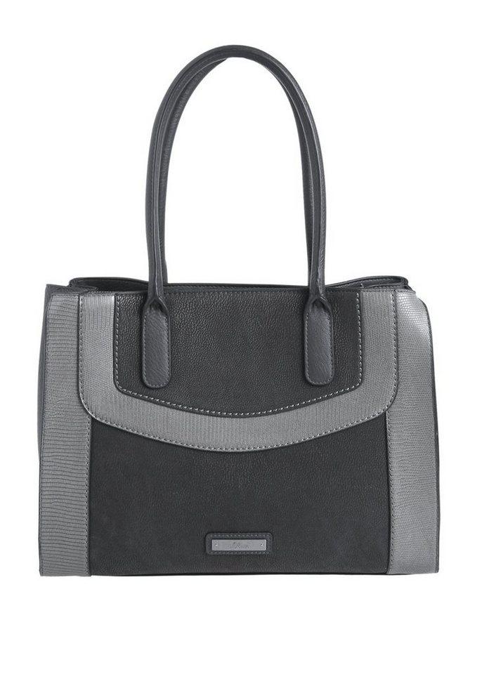 s.Oliver RED LABEL Eleganter Shopper in dark grey