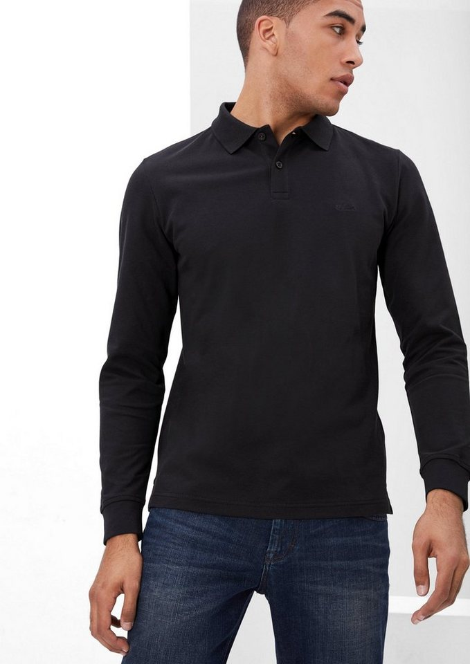 s.Oliver RED LABEL Poloshirt aus Baumwoll-Piqué in charcoal