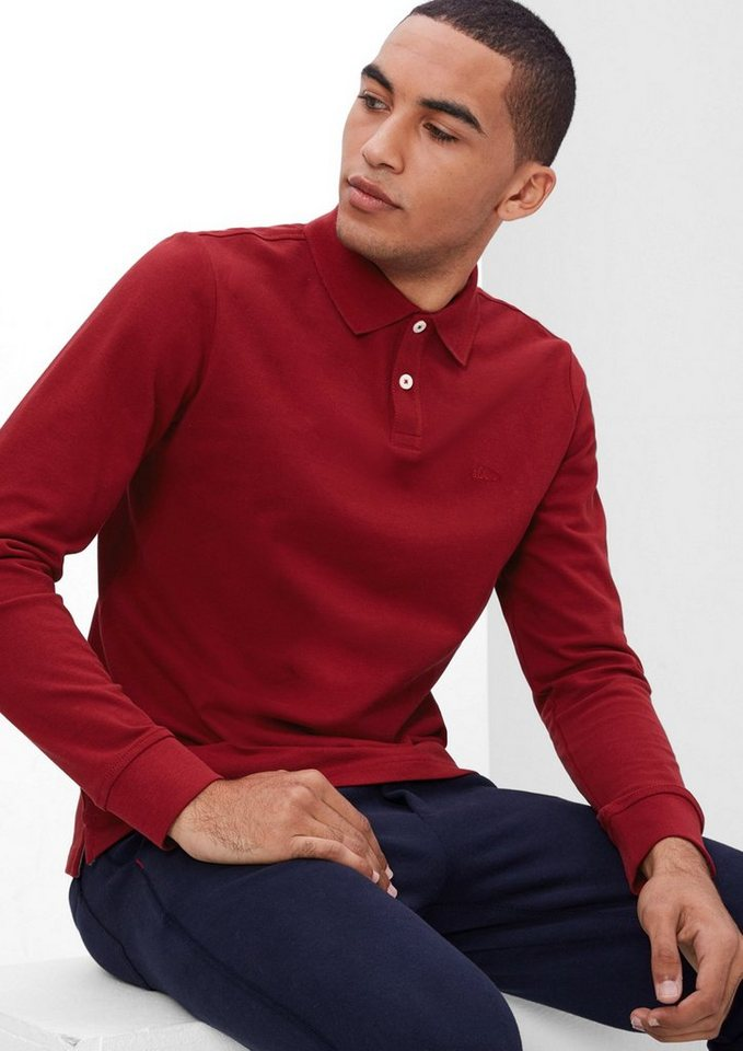 s.Oliver RED LABEL Poloshirt aus Baumwoll-Piqué in passion red