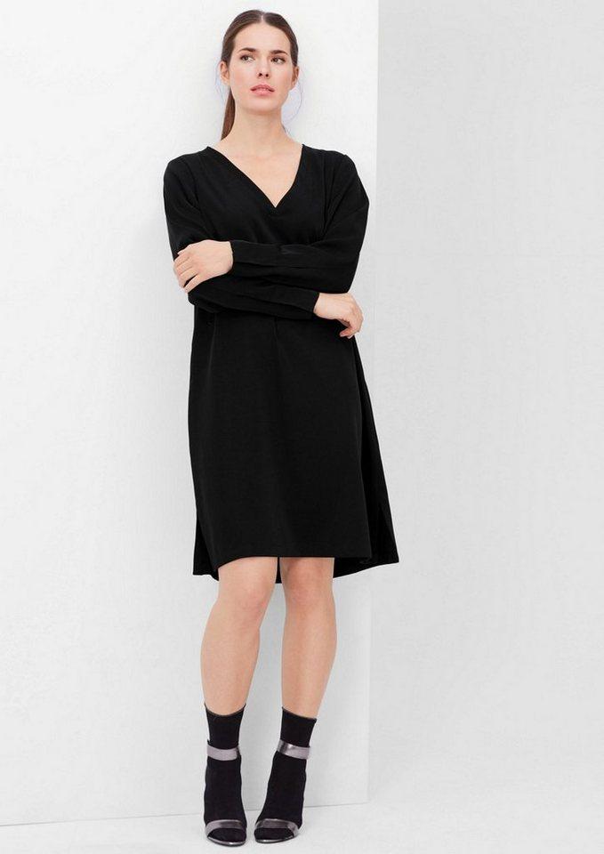TRIANGLE Kleid aus changierendem Satin in black