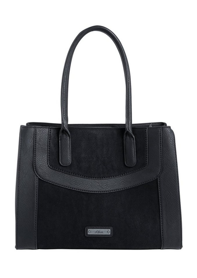 s.Oliver RED LABEL Eleganter Shopper in black