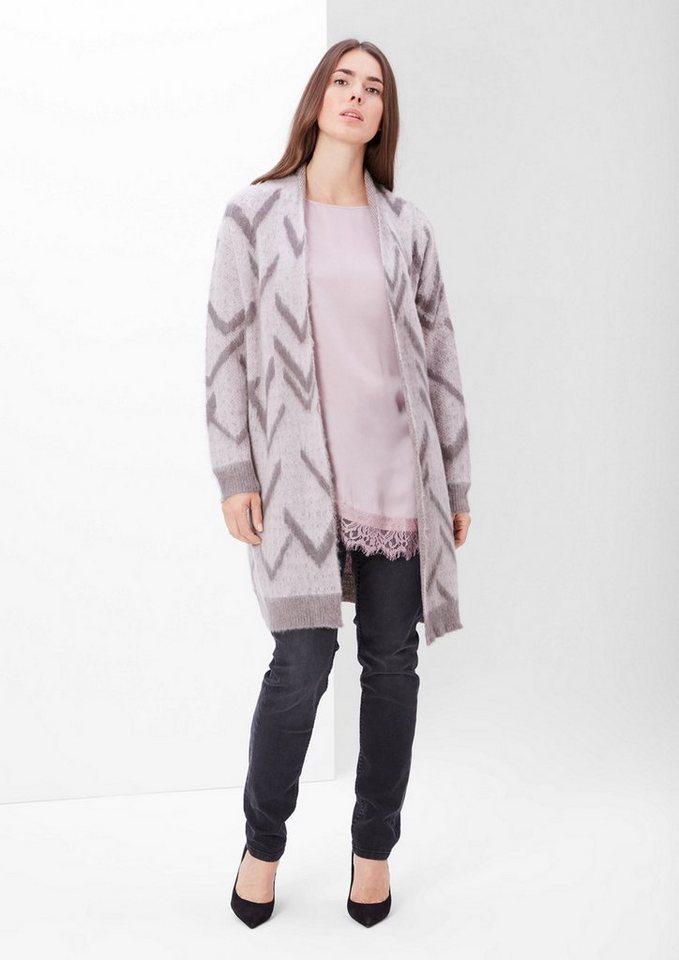 TRIANGLE Strickjacke mit Wolle und Mohair in chalk pink