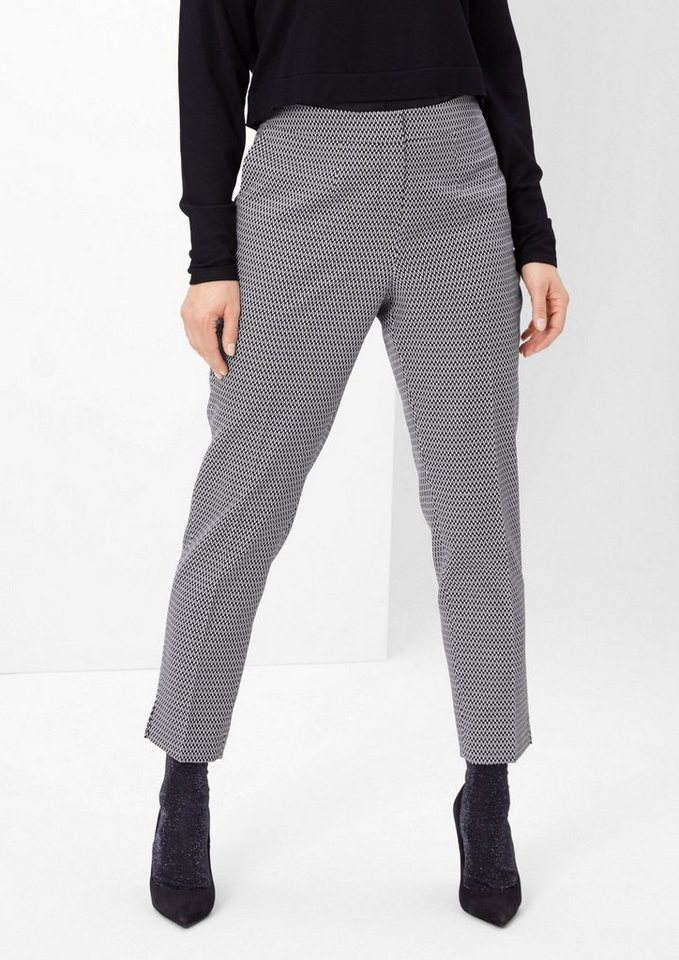 TRIANGLE Jacquard-Hose in Black-and-White in black