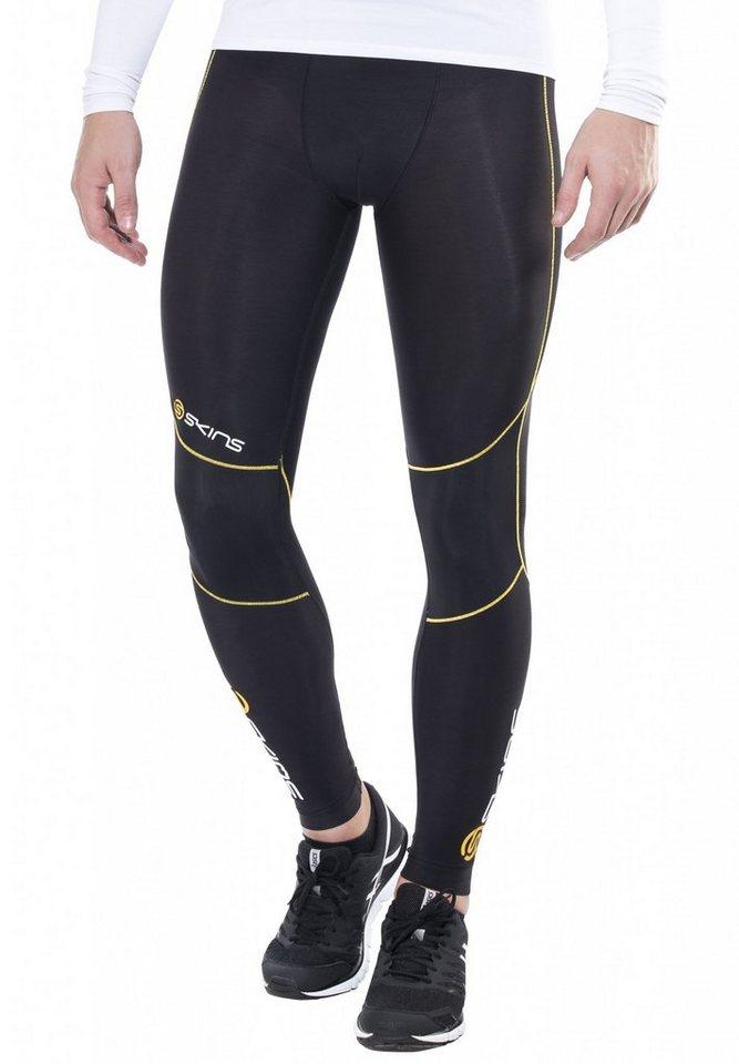 Skins Laufhose »A400 Logo Line Long Tights Men« in schwarz