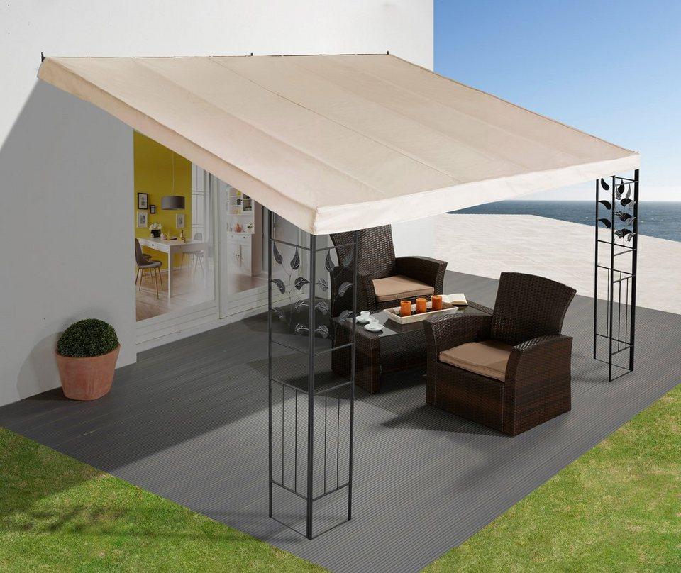anbaupavillon bl tter 3x3 m 3x4 m kaufen otto. Black Bedroom Furniture Sets. Home Design Ideas
