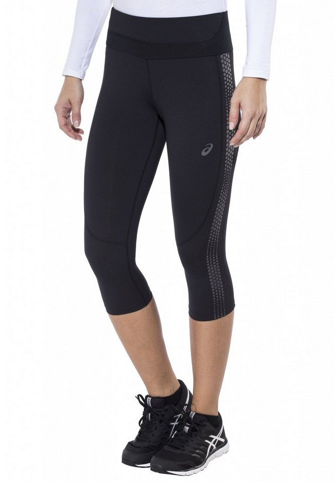 asics Jogginghose »Lite-Show Knee Tight Women« in schwarz