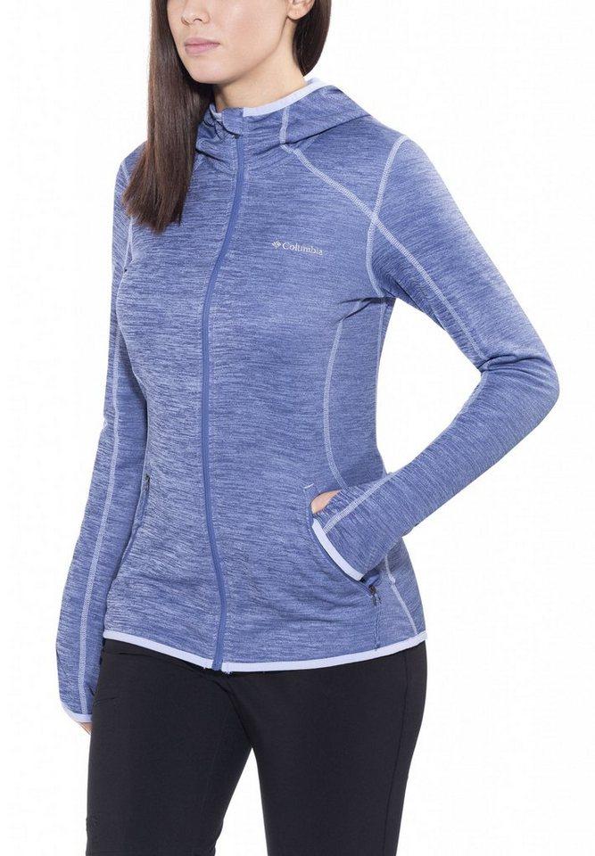 Columbia Outdoorjacke »Sapphire Trail Hooded Fleece Jacket Women« in blau