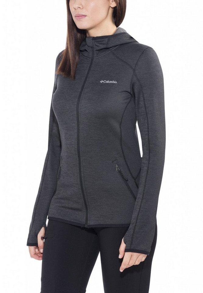 Columbia Outdoorjacke »Sapphire Trail Hooded Fleece Jacket Women« in schwarz