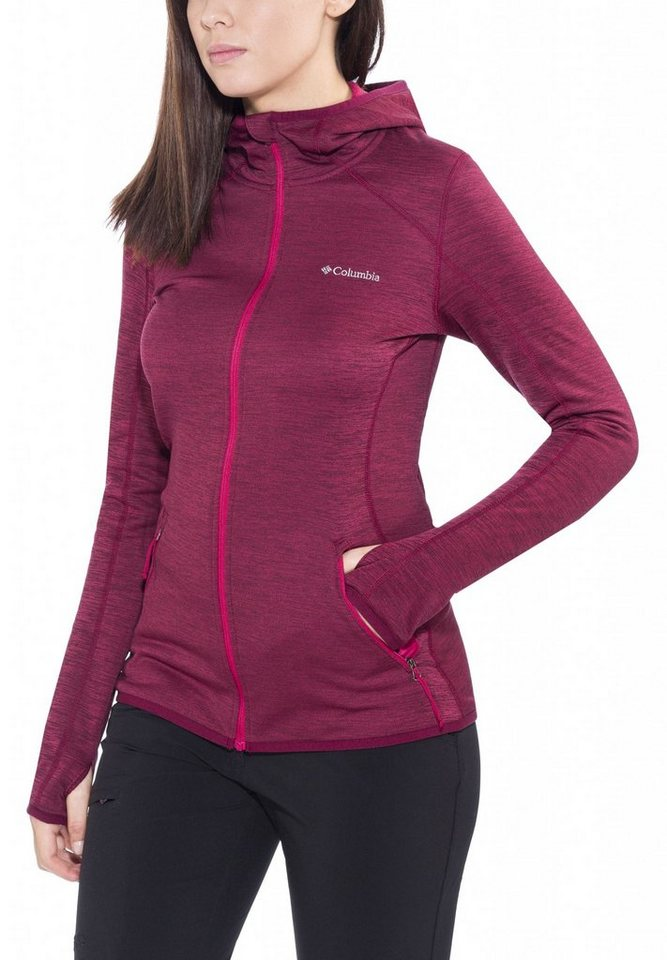 Columbia Outdoorjacke »Sapphire Trail Hooded Fleece Jacket Women« in rot