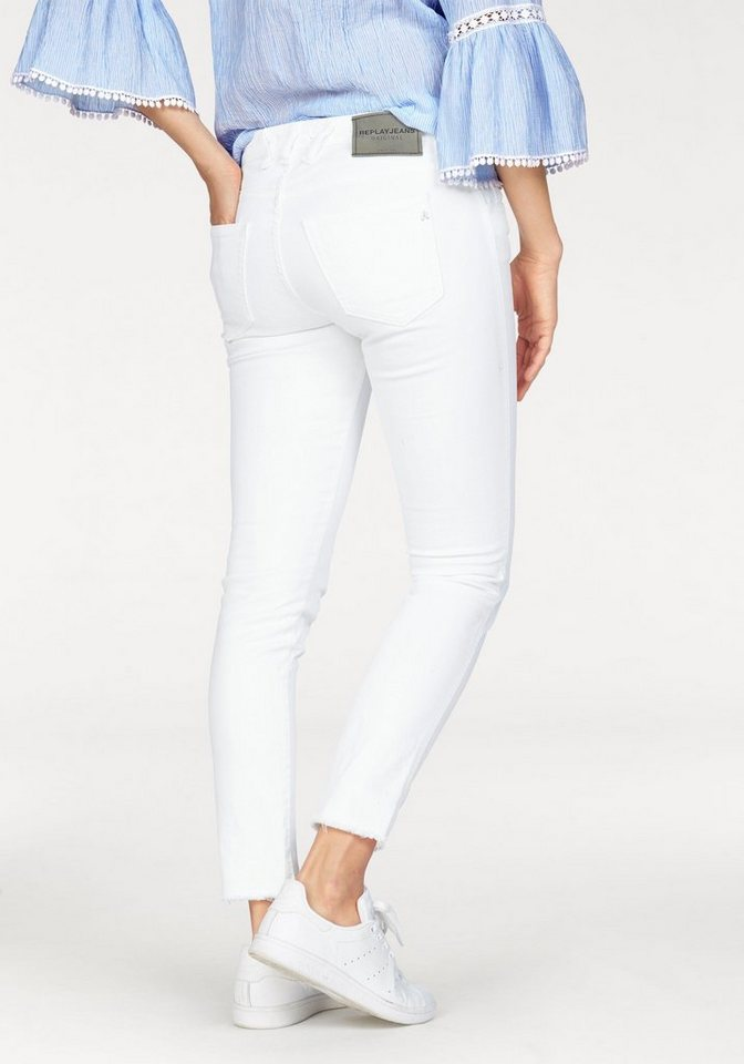 Replay Slim-fit-Jeans »KATEWIN« mit Stretch in weiß